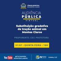 Audiência Pública debaterá sobre a substituição gradativa da tração animal em Montes Claros