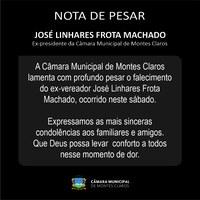 Câmara de Montes Claros lamenta a morte do ex-vereador José Linhares